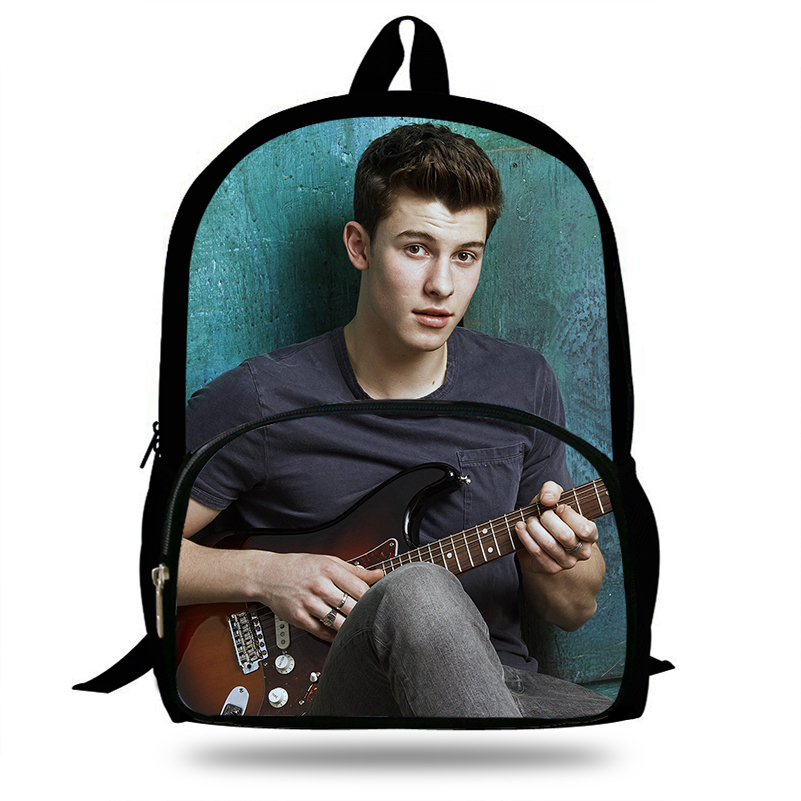 New Hot Shawn Mendes Singer Pop Stars School Bags for Teenage Mens Boys Schoolbag Solid Backpacks Student Daily Bag new style school bags for boys