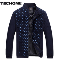 2016 NEW Autumn Patchwork Polka Dot Casual Men Jacket Outwear Jackets For Men Coat Mens Jackets