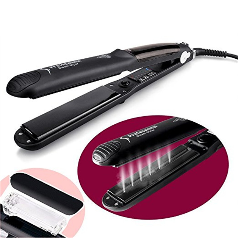 Steam Function Flat Iron Tourmaline Ceramic Vapor Professional Fast Heating Ceramic Steam Hair Straightener