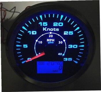 Brand New Marine 0-35Knots GPS Velocímetros 85 Modificação mm 0-40MPH Indicadores de Velocidade GPS Mileometers 9-32 V Lcd Viagem ODO COG