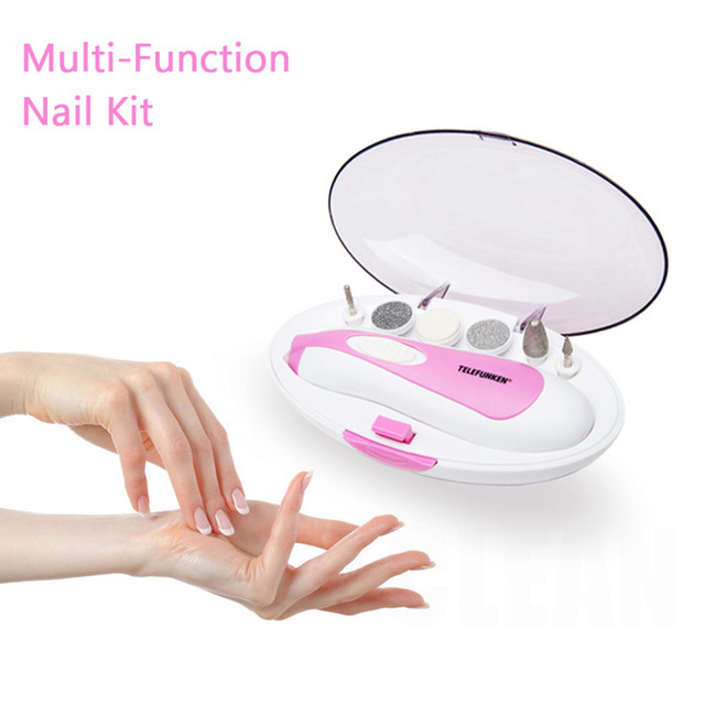 RANDOM COLOR! Portable Nail Buffer Set Manicure Machine