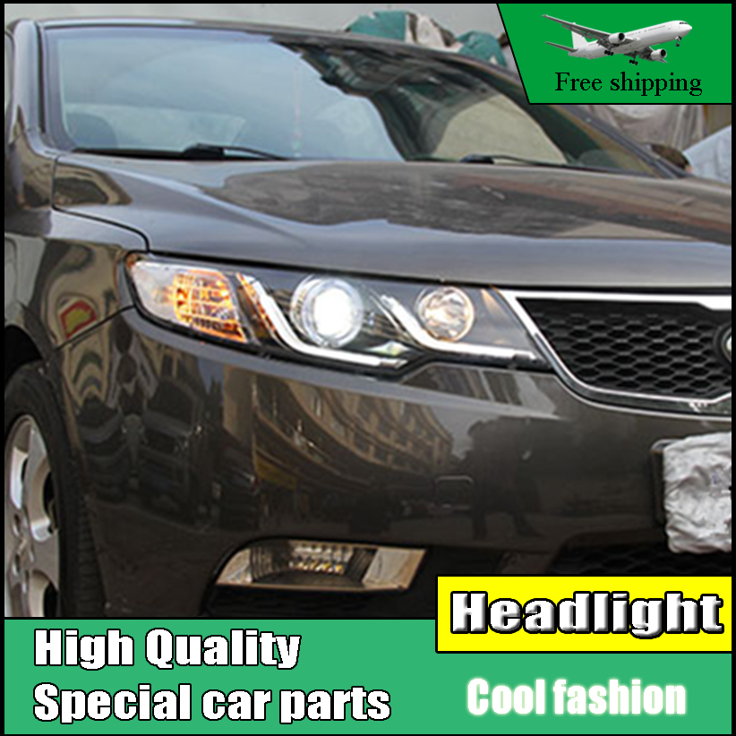 Car Styling Head Lamp Case For Kia Forte Headlights 2010-2014 Cerato LED Headlight DRL Bi Xenon Lens High Low Beam Parking akd car styling for nissan teana led headlights 2008 2012 altima led headlight led drl bi xenon lens high low beam parking