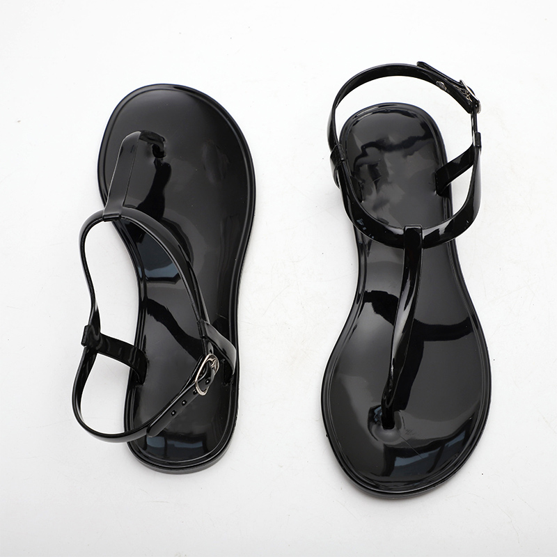 86cacd8ae New Women T Strap Flat Ankle Buckle Thong Sandals Female Gladiator Flip  Flops Summer Beach Casual Fashion Vintage Shoes Jelly-in Women s Sandals  from Shoes ...