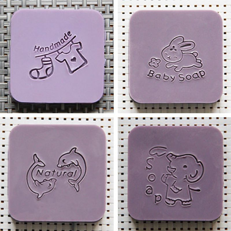Nicole Soap Stamp for Natural Handmade Acrylic Mold Chapter