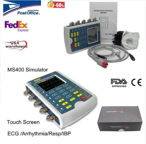 Contec MS400 ECG Simulator Multi-Parameter Patient Monitor Simulator ECG,IBP,RESP test   Contec MS400 ECG Simulator Multi-Parameter Patient Monitor Simulator ECG,IBP,RESP test