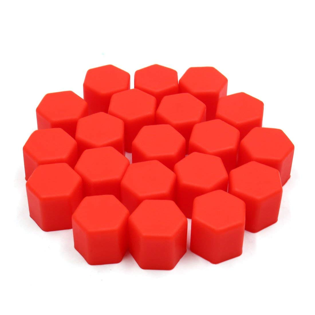 uxcell 20 Pcs 17mm Red Silicone <font><b>Car</b></font> <font><b>Wheel</b></font> <font><b>Hub</b></font> Screw <font><b>Cover</b></font> Bolt Protector Nut Cap image