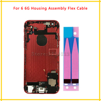 Back Middle Frame Chassis Full Housing Assembly Battery Cover Door Rear With Flex Cable For Iphone