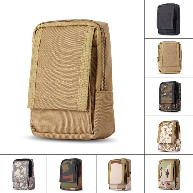 Tactical Bag Waist Bag Military Equipment Molle Pouch Practical Key Coin Case Emergency Kits Outdoor Zipper Waist Pack