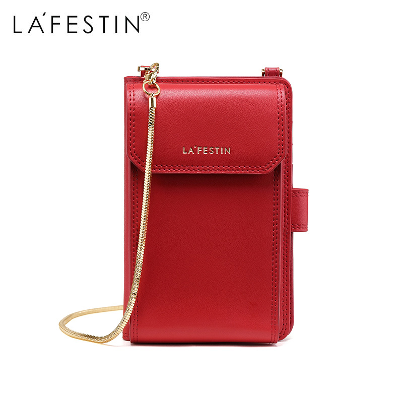 LAFESTIN Women Mini Shoulder Bag Fashion Metal Chain Purse Wallet Bags Mini Small Versatile Luxury Women Mobile Phone Bag bolsa