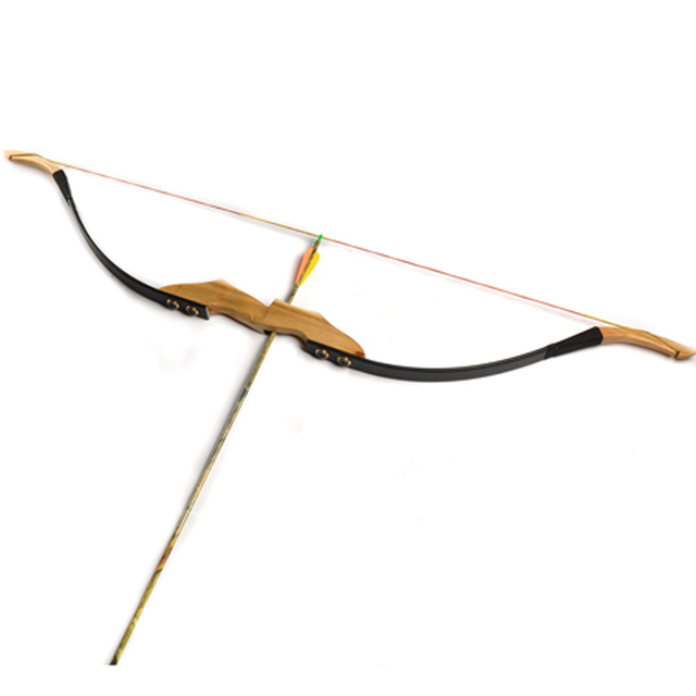 Archery Traditional Mongolian Recurve Bow of 30lbs/40lbs for Right Left Hand with Wooden Raiser and Fur Rest for Hunting 1