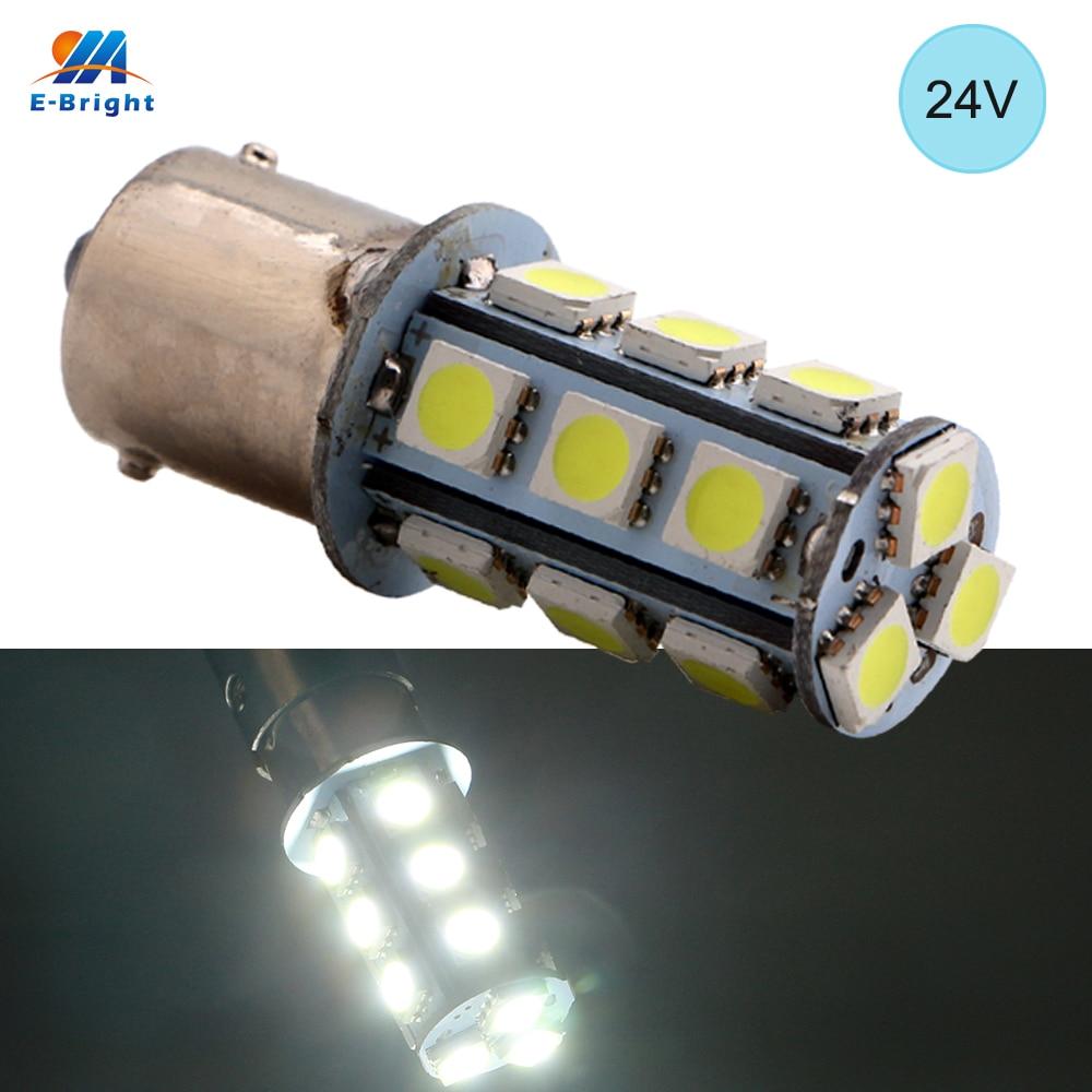 YM E Bright 100PCS 24V DC 1156 5050 18 SMD S25 BA15S P21W Light Bulb Car
