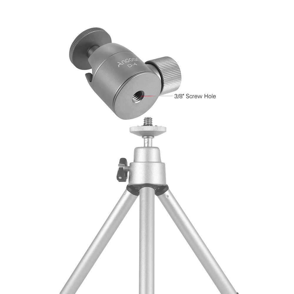 Andoer мини-штатив шаровой головкой Сплава Al крепление штатива с 1/4 дюйма резьбовое отверстие 360 Вращающийся панорама для смартфон с камерой