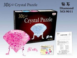DIY игрушка для детей 3D кристаллическая головоломка(в форме микс) обучающая игрушка, оптом и в розницу