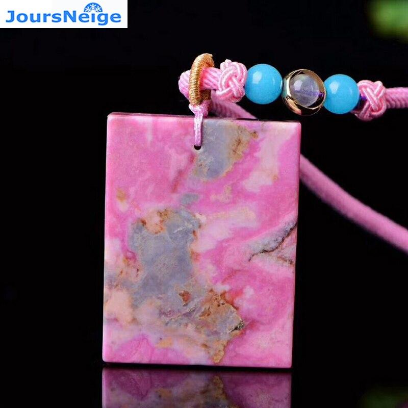 Оптовая продажа розовый Натуральный камень Подвески независимо от того бренд подвеска свитер цепи Цепочки и ожерелья безопасный Lucky для Дл...