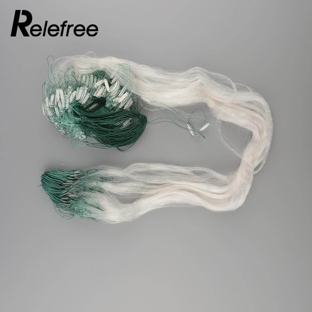 25 м прозрачный зеленый белый Леска рыболовная рыба сетки Гилл Чистая Спортивные 25x1,2 м ...