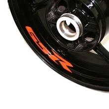 Motocycle Wheel Sticker Inner Rim Decal Reflective Stickers Stripes for SUZUKI GSR for suzuki gsf650 gsf650s gsf1000 gsr 600 750 1000 gsr600 colorful motorcycles wheel stickers reflective rim moto stripe tape