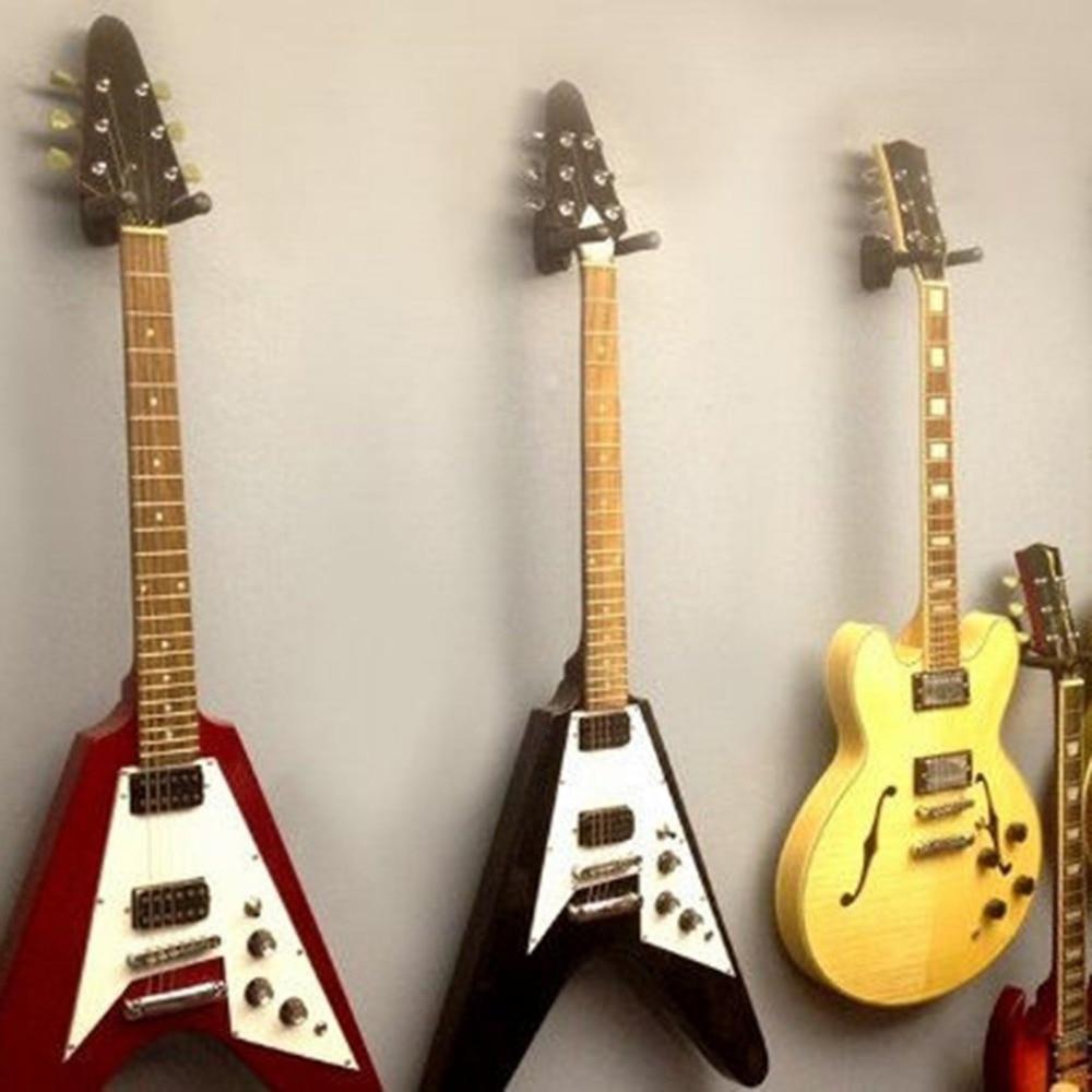 guitar hanger stand holder wall mount display rack foam coated adjustable hanger for acoustic. Black Bedroom Furniture Sets. Home Design Ideas