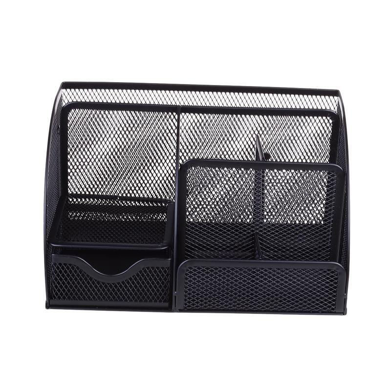 Desk Tidy Organizer Set Storage Box Pen Holder Mesh Stationery Container for Home Office
