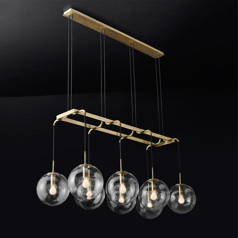 LED postmoderno nórdico hierro vidrio burbujas diseñador LED ...