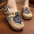 Plus Size 35-44 Old Beijing Cloth Shoes Women 2017 New Fashion Round Toe Mixed Colors Women's Flats Casual Spring Loafers Shoes