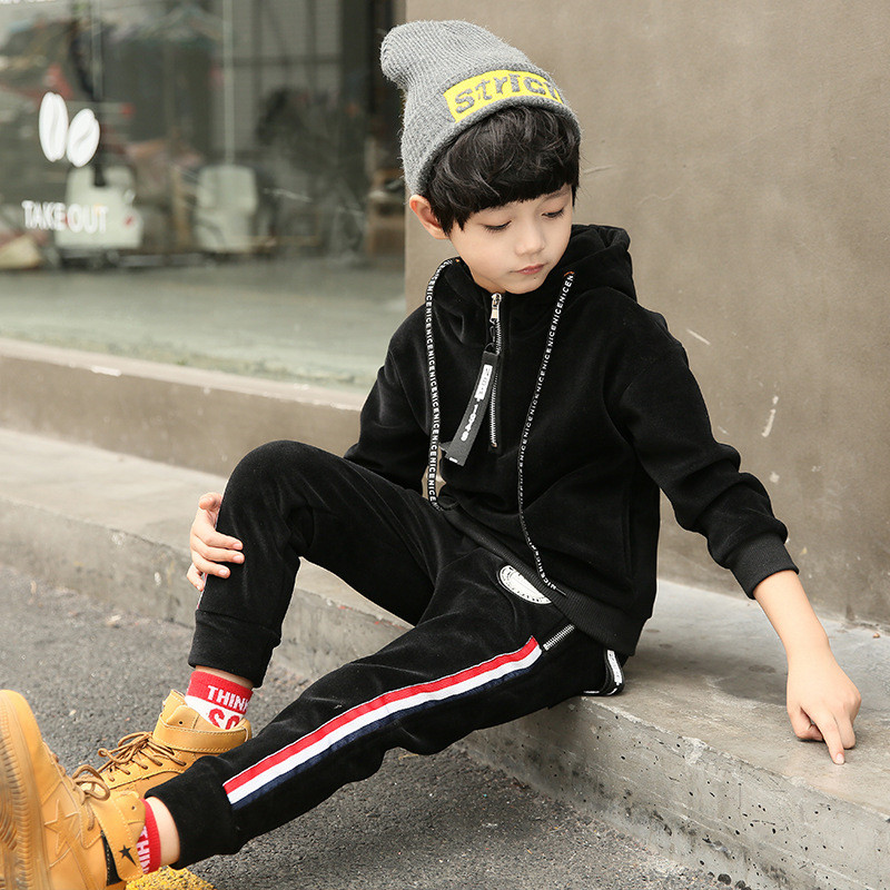 Boys Clothes Sets Autumn Winter Children Clothing Sets Baby Boys Fashion Clothes Kids Hooded Coat + Pants 2PCS Casual TrackSuits boys fleece jackets solid coat kid clothes winter coats 2017 fashion children clothing