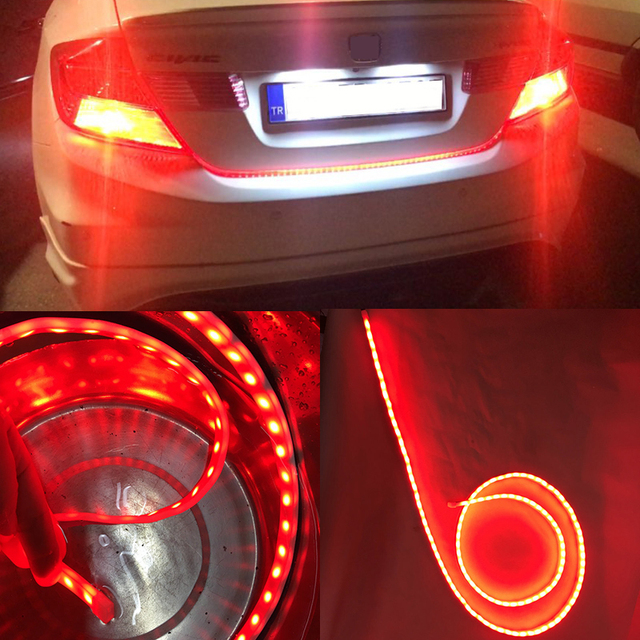 Led strip trunk tail brake turn signal light flow type ice blue led strip trunk tail brake turn signal light flow type ice blue red yellow white car aloadofball Image collections