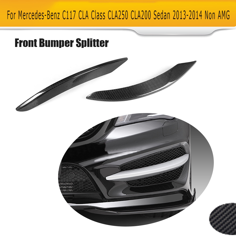 CLA Class Carbon Fiber front lamp decorations molding trim for Mercedes Benz C117 CLA250 CLA200 Sedan 2013 2014 Non AMG 2PCS цена