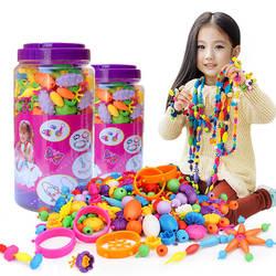 Беспроводной Браслет игрушки для детей Магия бисерные игрушки строка разнообразие DIY браслет ювелирные изделия Детская игрушка