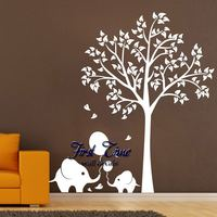 Balloon Elephant Tree Wall Sticker Decals Mural Nursery Vinyl Wall Stickers Personalized Customization Kids Rooms Home Decor
