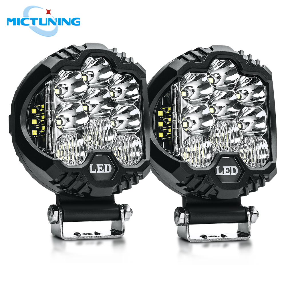 MICTUNING Auto Side Shooter LED Pods Car LED Work Light Bar Dual Side Shooter Led Cube Offroad Boat Combo Beam Driving Fog LampsMICTUNING Auto Side Shooter LED Pods Car LED Work Light Bar Dual Side Shooter Led Cube Offroad Boat Combo Beam Driving Fog Lamps