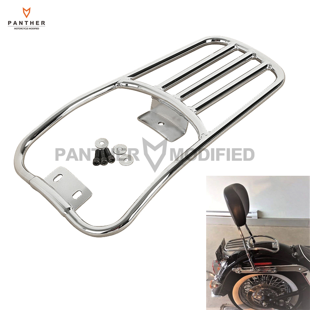 Chrome Motorcycle Rear Fender Luggage Rack Case For Harley Softail Deluxe 2006-2017 Fatboy 2007-2017