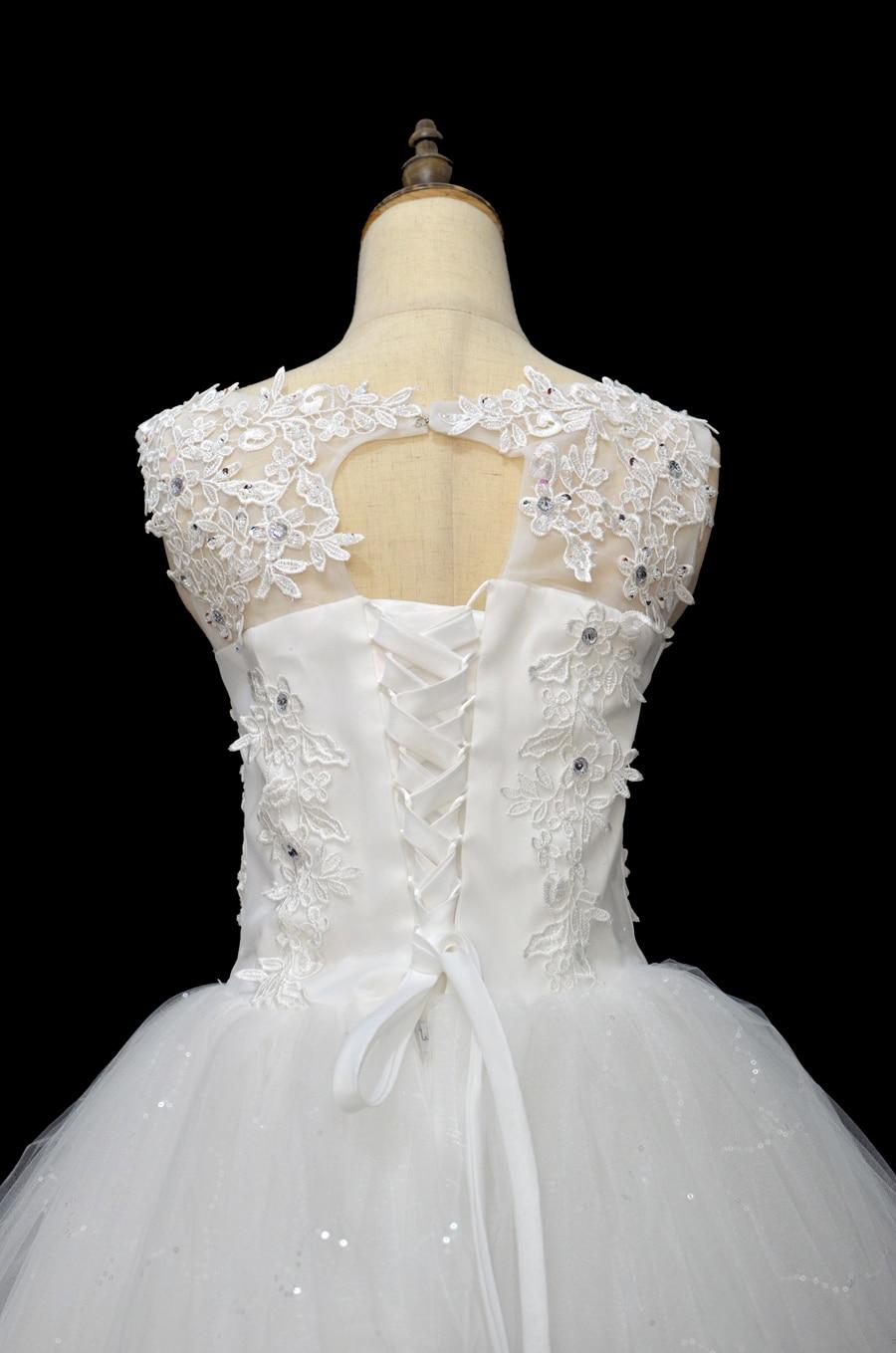 Coreeană Lace Up Ball rochie de calitate rochii de mireasa 2018 - Rochii de mireasa - Fotografie 5