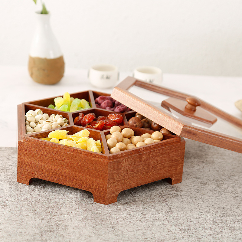 Factory direct sale wooden box candy box dried fruit snacks desktop box solid wood sugar wedding gift box