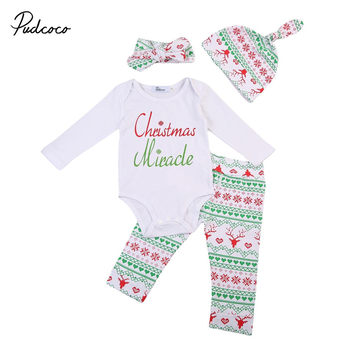 Warnen Weihnachts Neugeborenen Jungen Mädchen Langarm Herbst Strampler Boho Hosen Outfits Kleidung
