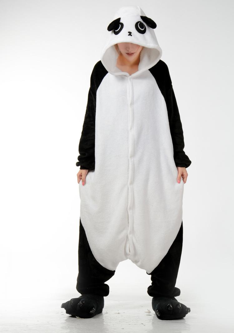 комбинезон зима взрослых мудрым Пэм мультфильм животных хэллоуин косплей костюм с надпись Пэм Дино панда Stack кигуруми