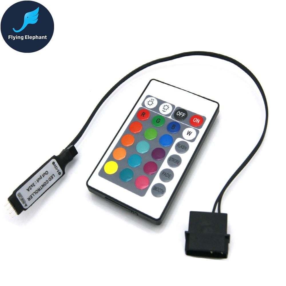 Материнская плата AURA RGB разветвитель Интерфейс 12 V/5 V прибор приемно-D-RGB синхронизации концентратор передачи мм, удлиняющий кабель, для ASUS GIGABYTE MSI - Цвет лезвия: 4Pin RGB Controller