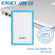 EAGET G90 500GB-1TB HDD 2.5 Ultra-thin USB 3.0 High Speed External Hard Drives Portable Laptop Shockproof Mobile Hard Disk Hot