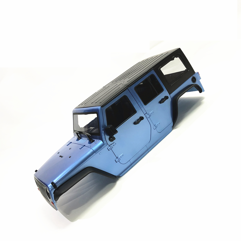 Unassembled 12.3inch 313mm Wheelbase  jeep  Wrangle  Body Car Shell for 1/10 RC Crawler Axial SCX10 & SCX10 II 90046 90047 4