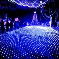 BEIAIDI 10M X 8M 2700 LED Christmas Mesh Net LED String Fairy Light 8 Mode Xmas Holiday Party Wedding Curtain Icicle Net Light