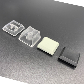 Kailh Low Profile Keycaps for Box 1350 Keycaps Chocolate Switch Translucent White Black Space Mechanical Key Cap image