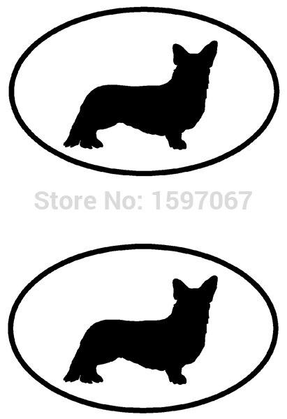 2 Кардиган Валлийский Корги Собака Породы Овальный Наклейка Для Окна Автомобиля Двери Для Ноутбука Kayak Искусства Щенок Этикеты Винила