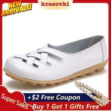 Krasovki Single Shoes Women Summer Fashion Flat Bottom Large Size Mother Dropshipping Breathable Beans