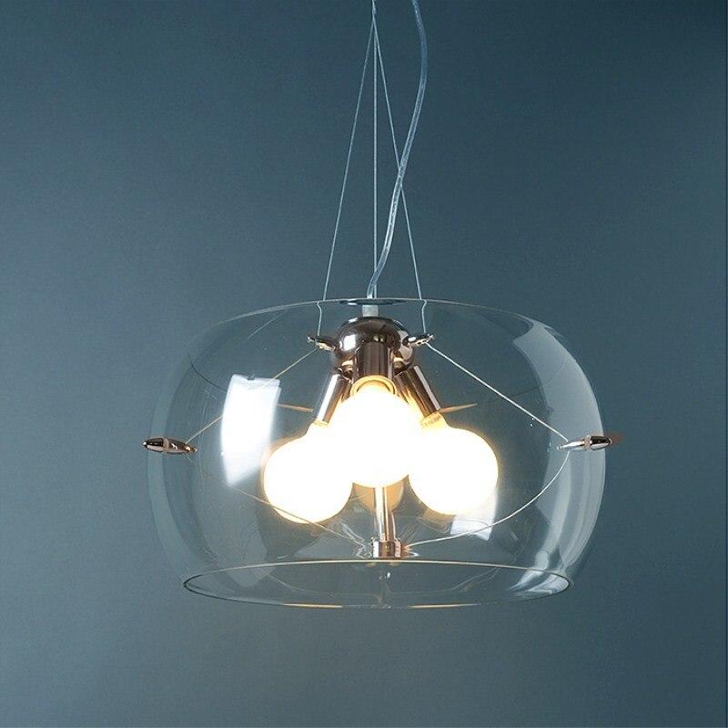 все цены на Italianism Modern Concise Glass Chrome Pendant Lamp Cafe Bar Restaurant Bedroom Parlor Study Aisle Decoration Lamp Free Shipping онлайн