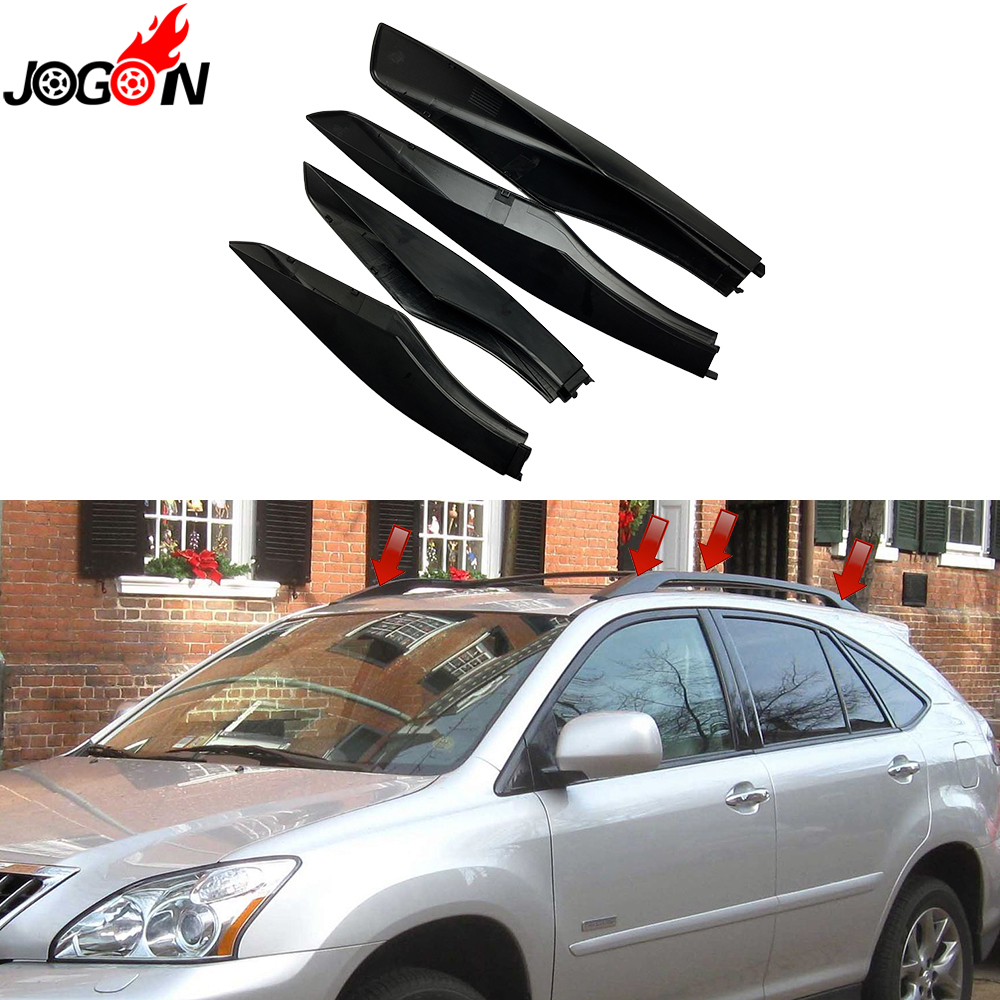 4PCS Black For Lexus RX RX330 RX350 RX400H 2003 2004 2005 2006 2007 2008 Roof Rack Bar Rail End Replacement Cover Shell 84040 60052 power window master switch for land cruiser prado lexus rx330 gx470 rx350 rx400h 2003 2009