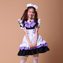 14cf2b5792c French Costume Sweet Gothic Lolita Anime Cosplay japanese maid sexy  halloween costumes for women dress plus size Sissy Uniform