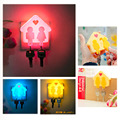 New  LED Love Heart Night Light Log Cabin Human Body Induction Lamp with Plug Hot Sales