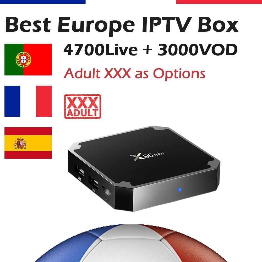 GOTiT French IPTV 4K UHD X96 MINI Android Box 5000 KING OTT IPTV Spanish Arabic Portuguese