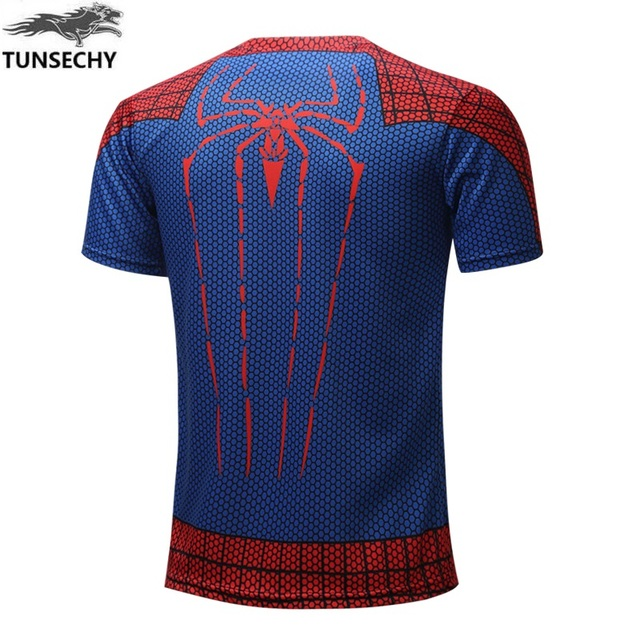 New Batman Spiderman Ironman Superman Captain America soldier T shirt Avengers Costume Comics Superhero for Men 1
