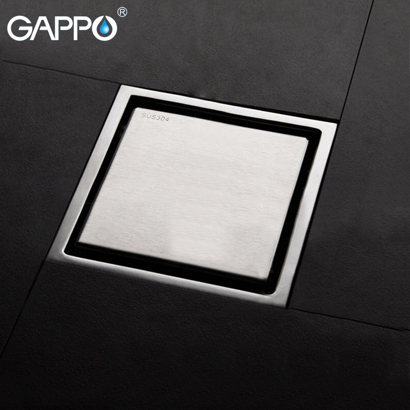 GAPPO bathroom floor drain Bathtub Shower Drain Floor Strainer stainless steel floor drain shower drain cover plug shower лоток вертикальный leitz plus черный 24760095