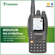 Nieuwe Collectie Dual Band TX 136-174/400-512 MHZ Zeven Band Receptie Cross Herhaal Walkie Talkie WOUXUN KG-UV9D Plus